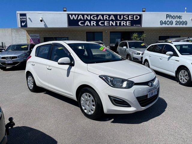 Used Hyundai i20 PB MY14 Active Wangara, 2014 Hyundai i20 PB MY14 Active White 4 Speed Automatic Hatchback