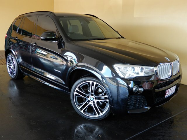 Used BMW X3 F25 MY15 xDrive30d Toowoomba, 2015 BMW X3 F25 MY15 xDrive30d Black 8 Speed Automatic Wagon