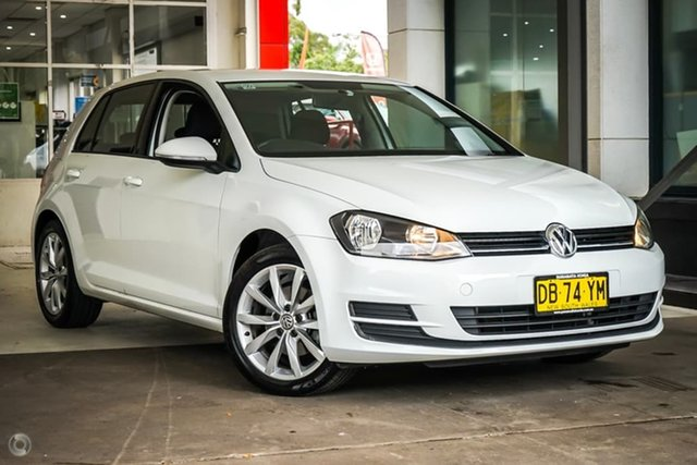 Used Volkswagen Golf VII MY16 92TSI Parramatta, 2015 Volkswagen Golf VII MY16 92TSI Pure White 6 Speed Manual Hatchback