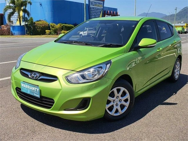 Used Hyundai Accent RB Active Bungalow, 2013 Hyundai Accent RB Active Green 4 Speed Sports Automatic Hatchback