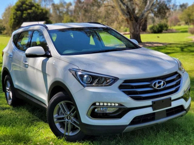 Used Hyundai Santa Fe DM5 MY18 Active Wodonga, 2018 Hyundai Santa Fe DM5 MY18 Active White 6 Speed Sports Automatic Wagon