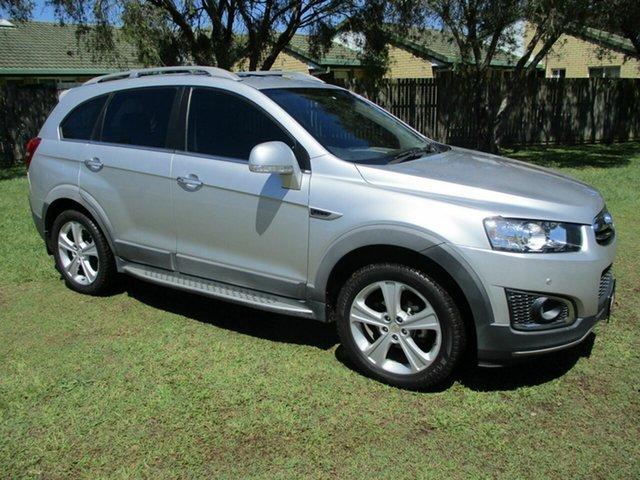 Used Holden Captiva CG MY15 7 AWD LTZ Kippa-Ring, 2015 Holden Captiva CG MY15 7 AWD LTZ Silver 6 Speed Sports Automatic Wagon