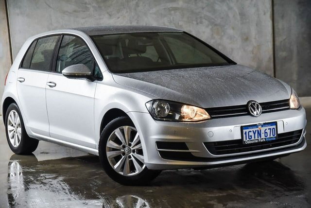 Used Volkswagen Golf VII MY14 90TSI DSG Comfortline Osborne Park, 2014 Volkswagen Golf VII MY14 90TSI DSG Comfortline Silver 7 Speed Sports Automatic Dual Clutch