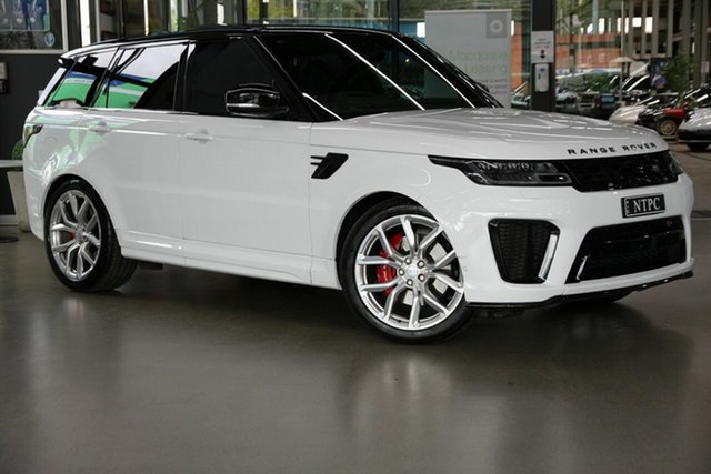 Used Land Rover Range Rover Sport L494 18MY SVR North Melbourne, 2018 Land Rover Range Rover Sport L494 18MY SVR White 8 Speed Sports Automatic Wagon