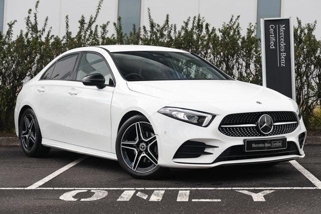Certified Pre-Owned Mercedes-Benz A-Class V177 A200 DCT Mulgrave, 2019 Mercedes-Benz A-Class V177 A200 DCT White 7 Speed Sports Automatic Dual Clutch Sedan