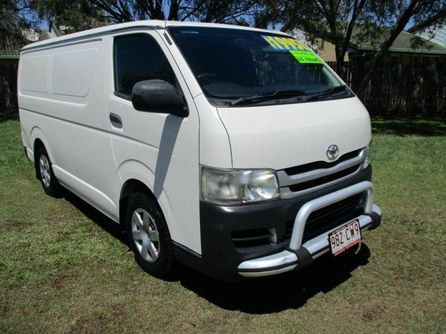 Used Toyota HiAce TRH201R MY08 LWB Kippa-Ring, 2009 Toyota HiAce TRH201R MY08 LWB White 4 Speed Automatic Van