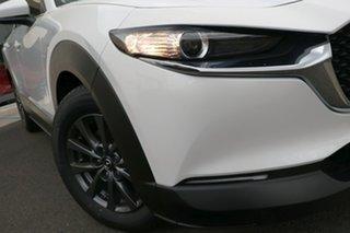 2021 Mazda CX-30 DM2W7A G20 SKYACTIV-Drive Pure Snowflake White Pearl 6 Speed Sports Automatic Wagon.