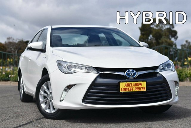 Used Toyota Camry AVV50R Altise Enfield, 2017 Toyota Camry AVV50R Altise White 1 Speed Constant Variable Sedan Hybrid
