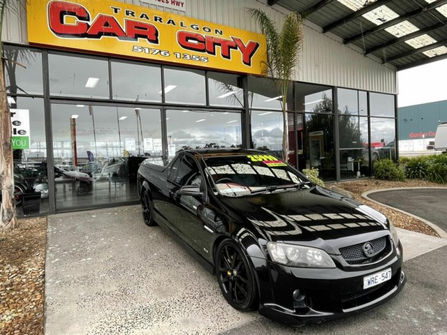 Used Holden Commodore VE MY09.5 SS-V Traralgon, 2008 Holden Commodore VE MY09.5 SS-V Black 6 Speed Automatic Utility