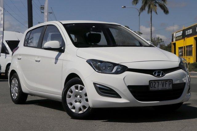 Used Hyundai i20 PB MY13 Active Rocklea, 2013 Hyundai i20 PB MY13 Active Coral White 4 Speed Automatic Hatchback