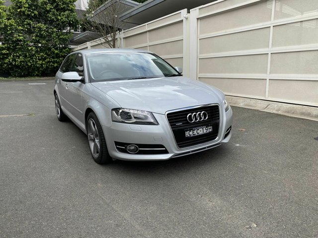 Used Audi A3 8P MY12 Ambition Sportback S Tronic Quattro Zetland, 2012 Audi A3 8P MY12 Ambition Sportback S Tronic Quattro Silver 6 Speed Sports Automatic Dual Clutch