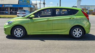 2013 Hyundai Accent RB Active Green 4 Speed Sports Automatic Hatchback.