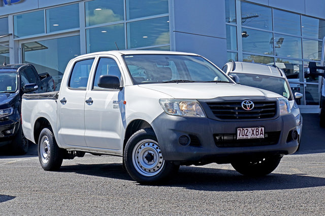 Used Toyota Hilux TGN16R MY12 Workmate Double Cab 4x2 Springwood, 2012 Toyota Hilux TGN16R MY12 Workmate Double Cab 4x2 White 4 Speed Automatic Utility