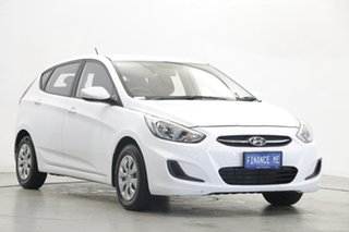 2017 Hyundai Accent RB4 MY17 Active Crystal White 6 Speed Constant Variable Hatchback
