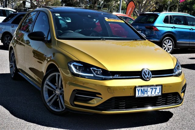 Used Volkswagen Golf VII MY17 110TDI DSG Highline Phillip, 2017 Volkswagen Golf VII MY17 110TDI DSG Highline Turmeric Yellow 6 Speed