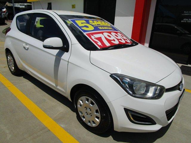 Used Hyundai i20 PB MY14 Active Springwood, 2014 Hyundai i20 PB MY14 Active White 6 Speed Manual Hatchback