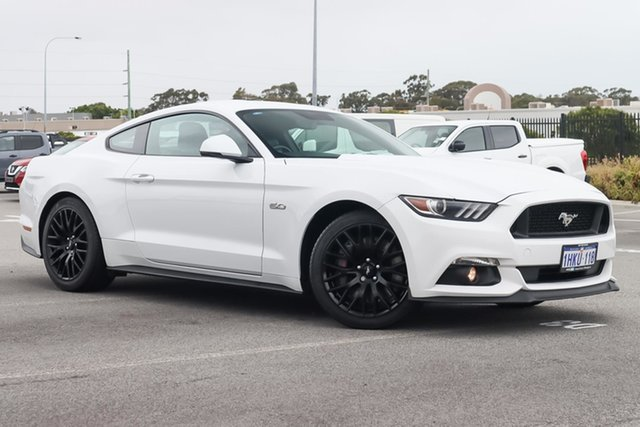 Used Ford Mustang FM GT Fastback SelectShift Wangara, 2016 Ford Mustang FM GT Fastback SelectShift White 6 Speed Sports Automatic Fastback