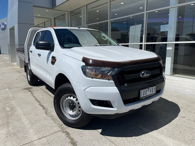 Used Ford Ranger PX MkII 2018.00MY XL Ferntree Gully, 2018 Ford Ranger PX MkII 2018.00MY XL White 6 Speed Sports Automatic Cab Chassis
