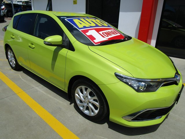 Used Toyota Corolla ZRE182R Ascent Sport S-CVT Springwood, 2016 Toyota Corolla ZRE182R Ascent Sport S-CVT Green 7 Speed Constant Variable Hatchback