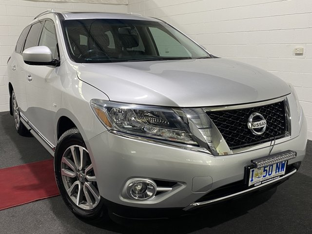 Used Nissan Pathfinder R52 MY14 ST-L X-tronic 4WD Glenorchy, 2014 Nissan Pathfinder R52 MY14 ST-L X-tronic 4WD 1 Speed Constant Variable Wagon