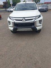 2019 Mitsubishi Triton MR MY20 GLS Double Cab Premium White 6 Speed Sports Automatic Utility.