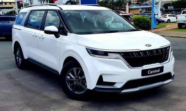 New Kia Carnival KA4 MY21 S Gympie, 2021 Kia Carnival KA4 MY21 S Snow White Pearl 8 Speed Sports Automatic Wagon