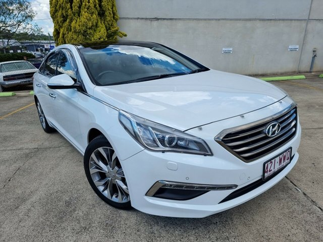 Used Hyundai Sonata LF Premium Toowoomba, 2015 Hyundai Sonata LF Premium White 6 Speed Sports Automatic Sedan