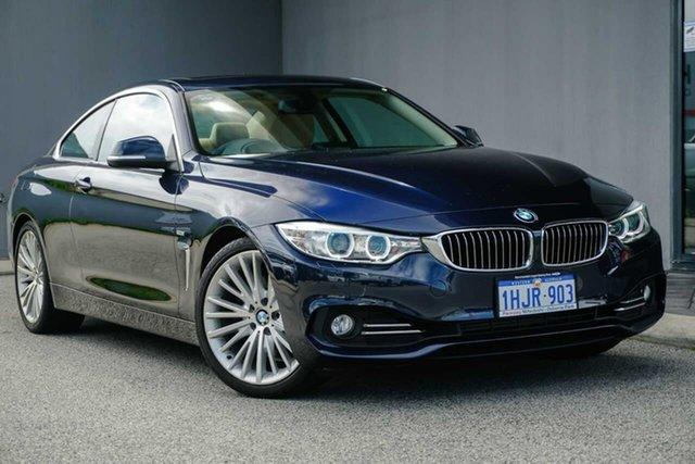 Used BMW 4 Series F32 428i Luxury Line Osborne Park, 2014 BMW 4 Series F32 428i Luxury Line Blue 8 Speed Sports Automatic Coupe