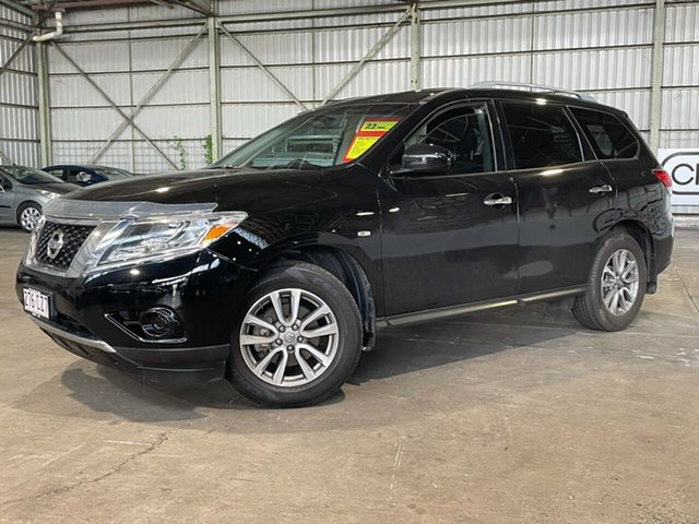 Used Nissan Pathfinder R52 MY14 ST X-tronic 2WD Rocklea, 2013 Nissan Pathfinder R52 MY14 ST X-tronic 2WD Black 1 Speed Constant Variable Wagon