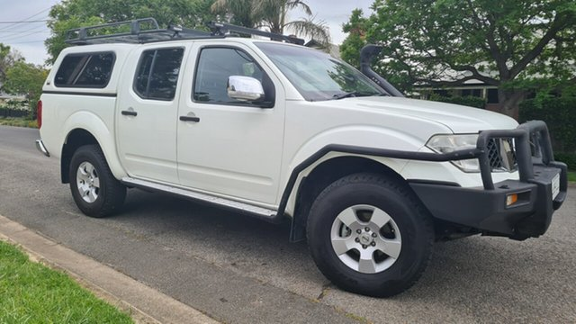 Used Nissan Navara D40 ST-X (4x4) Prospect, 2007 Nissan Navara D40 ST-X (4x4) White 6 Speed Manual Dual Cab Pick-up