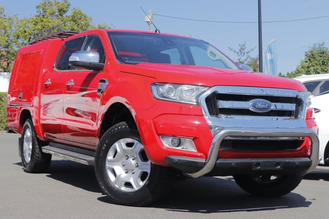 Used Ford Ranger PX MkII XLT Super Cab 4x2 Hi-Rider Mount Gravatt, 2016 Ford Ranger PX MkII XLT Super Cab 4x2 Hi-Rider Red 6 Speed Sports Automatic Utility