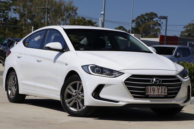 Used Hyundai Elantra AD MY18 Active Aspley, 2018 Hyundai Elantra AD MY18 Active White 6 Speed Sports Automatic Sedan