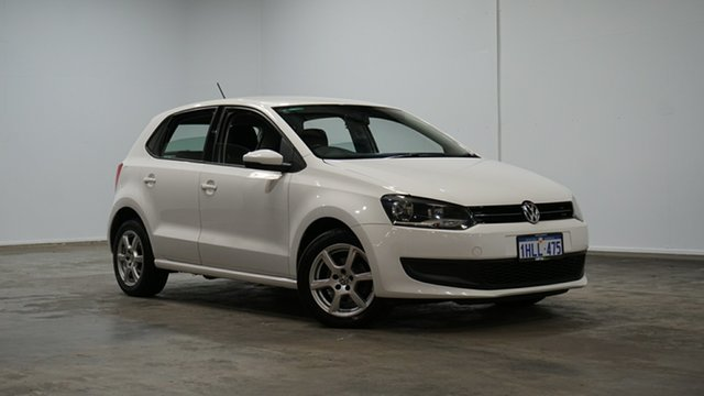 Used Volkswagen Polo 6R MY14 77TSI DSG Comfortline Welshpool, 2014 Volkswagen Polo 6R MY14 77TSI DSG Comfortline White 7 Speed Sports Automatic Dual Clutch