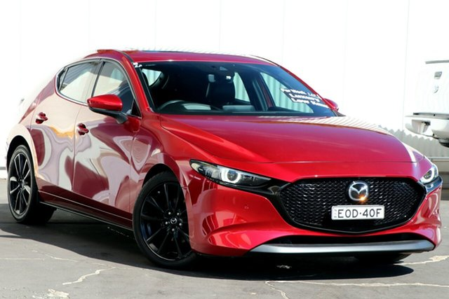 Used Mazda 3 BP2HLA G25 SKYACTIV-Drive Astina Wollongong, 2019 Mazda 3 BP2HLA G25 SKYACTIV-Drive Astina Soul Red Crystal 6 Speed Sports Automatic Hatchback