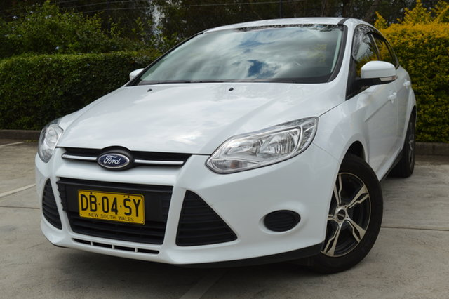 Used Ford Focus LW MkII MY14 Ambiente Maitland, 2015 Ford Focus LW MkII MY14 Ambiente White 5 Speed Manual Hatchback