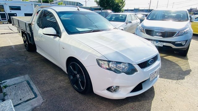 Used Ford Falcon FG XR6 Super Cab Maidstone, 2009 Ford Falcon FG XR6 Super Cab White 4 Speed Sports Automatic Cab Chassis