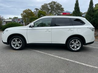 2014 Mitsubishi Outlander ZJ MY14.5 LS 4WD White 6 Speed Constant Variable Wagon
