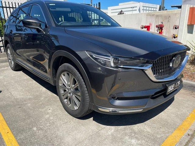 Demo Mazda CX-8 KG4W2A Asaki SKYACTIV-Drive i-ACTIV AWD Narre Warren, 2021 Mazda CX-8 KG4W2A Asaki SKYACTIV-Drive i-ACTIV AWD Grey 6 Speed Sports Automatic Wagon