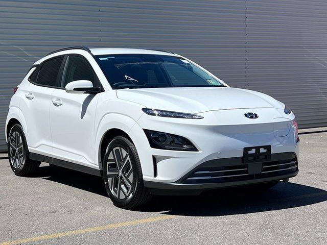 New Hyundai Kona Os.v4 MY21 electric Elite Nailsworth, 2021 Hyundai Kona Os.v4 MY21 electric Elite Atlas White 1 Speed Reduction Gear Wagon