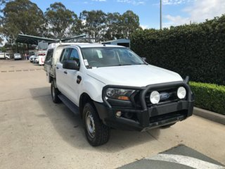 2016 Ford Ranger PX MkII XL Plus White 6 speed Automatic Cab Chassis.