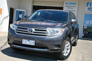 2011 Toyota Kluger GSU40R MY11 Upgrade KX-R (FWD) 7 Seat Grey 5 Speed Automatic Wagon.