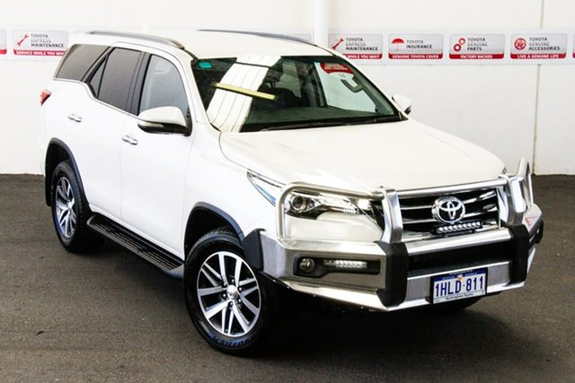 Pre-Owned Toyota Fortuner GUN156R Crusade Rockingham, 2017 Toyota Fortuner GUN156R Crusade Crystal Pearl 6 Speed Automatic Wagon