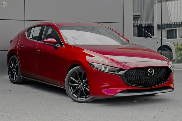 Demo Mazda 3 BP2HLA G25 SKYACTIV-Drive Astina Waitara, 2021 Mazda 3 BP2HLA G25 SKYACTIV-Drive Astina Red 6 Speed Sports Automatic Hatchback