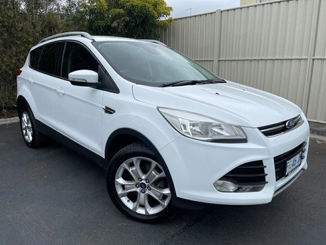 Used Ford Kuga TF MY16.5 Trend AWD Devonport, 2016 Ford Kuga TF MY16.5 Trend AWD White 6 Speed Sports Automatic Wagon