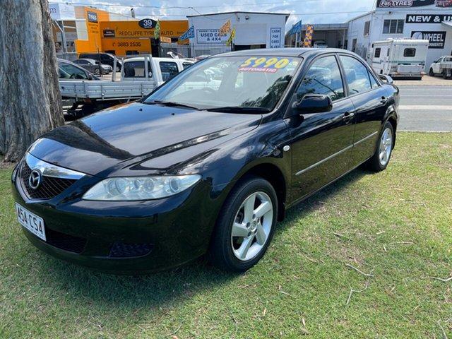 Used Mazda 6 GG1031 MY04 Classic Clontarf, 2004 Mazda 6 GG1031 MY04 Classic Black 4 Speed Sports Automatic Sedan