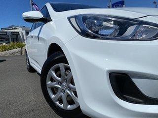 2012 Hyundai Accent RB Active White 5 Speed Manual Sedan.