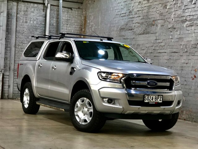 Used Ford Ranger PX MkII XLT Double Cab 4x2 Hi-Rider Mile End South, 2017 Ford Ranger PX MkII XLT Double Cab 4x2 Hi-Rider Silver 6 Speed Sports Automatic Utility