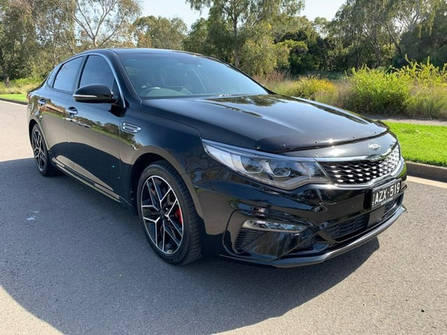Used Kia Optima JF GT Geelong, 2019 Kia Optima JF GT Black Sports Automatic Sedan