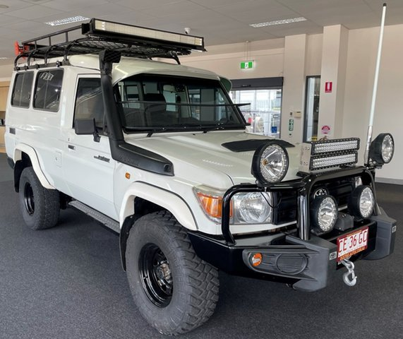 Used Toyota Landcruiser VDJ78R Workmate Troopcarrier Winnellie, 2015 Toyota Landcruiser VDJ78R Workmate Troopcarrier White 5 Speed Manual Wagon