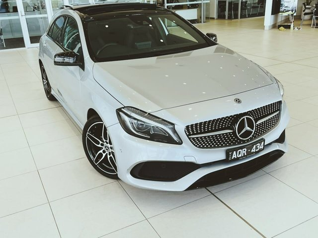 Used Mercedes-Benz A-Class W176 807MY A200 DCT Essendon Fields, 2017 Mercedes-Benz A-Class W176 807MY A200 DCT Silver 7 Speed Sports Automatic Dual Clutch Hatchback